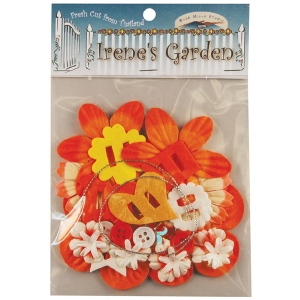 Blue Hills Studio™ Irene's Garden™ Potpourri Paper Flower & Embellishment Pack Oranges: Orange, Paper, 20 mm, 30 mm, 50 mm - 52 mm, Dimensional, (model BHS38), price per pack