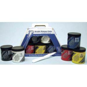 Prima Acryl Primary Color Set: 5 Jar, 236 ml & More