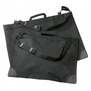 "Prestige™ University™ Series Black Soft-Sided Portfolio 20"" x 26"": Black/Gray, 1"", Nylon, 20"" x 26"""