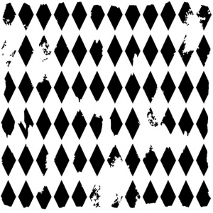 "The Crafter's Workshop 12"" x 12"" Design Template Harlequin: 12"" x 12"", Patterned Stencil, (model TCW202), price per each"