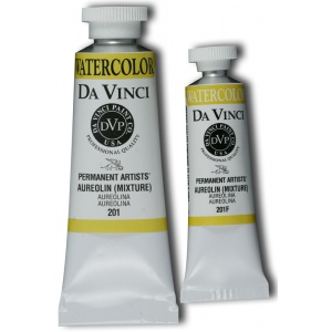 Da Vinci Artists' Watercolor Paint 15ml Aureolin Mixture: Yellow, Tube, 15 ml, Watercolor, (model DAV201F), price per tube