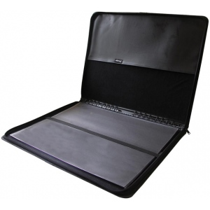 "Prestige™ Premier™ Black Series Leather Presentation Case 17"" x 22"": Black/Gray, Leather, 17"" x 22"""