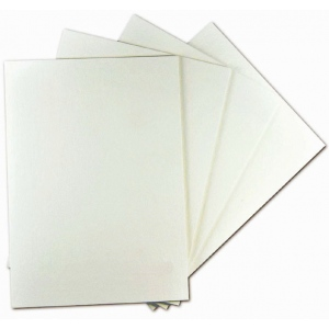 "Alvin® White On White Presentation Board 30 x 40: White/Ivory, Sheet, 25 Sheets, 30"" x 40"", Presentation Board, (model PW3040-25), price per 25 Sheets box"