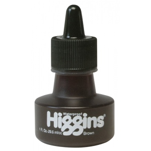 Higgins® Waterproof Color Drawing Ink, 1 oz. Bottle