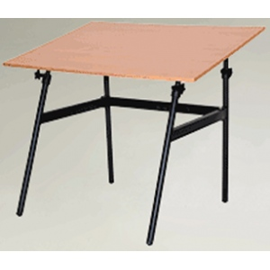 "Martin Berkeley Classic Black Base with 30"" x 42"" Cherrywood C Top: Model # U-DS1404CW"