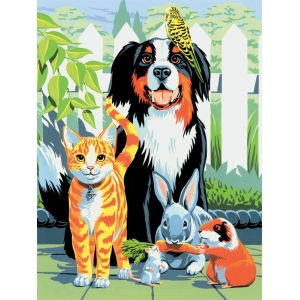 "Royal & Langnickel® Painting by Numbers™ 8 3/4 x 11 3/8 Junior Small Set Family Pets: 8 3/4"" x 11 3/8"""