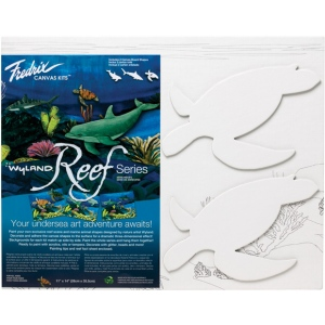 "Fredrix® Wyland® Sea Turtles Reef Series: Panel/Board, 11"" x 14"", (model T2594), price per set"