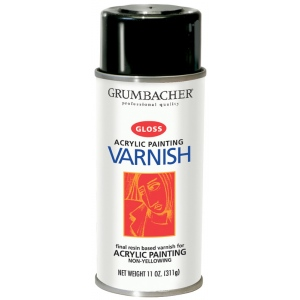 Grumbacher Hyplar Gloss Varnish Spray