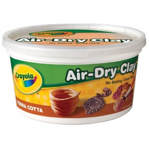 Crayola® Air-Dry Clay 2.5lb Terra Cotta: Brown, 2 1/2 lb, 2.5 lb, Air Dry, Craft, (model 57-5064), price per each
