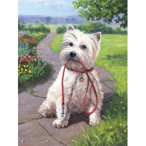 "Royal & Langnickel® Painting by Numbers™ 8 3/4 x 11 3/8 Junior Small Set Time For Walk: 8 3/4"" x 11 3/8"""