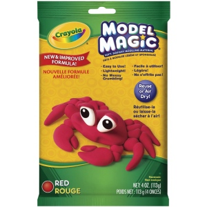 Crayola® Model Magic® Single Pack 4oz Red: Red/Pink, 4 oz, Craft, (model 57-4438), price per each