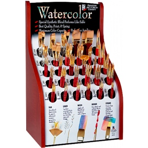 Princeton™ Best Synthetic Sable Watercolor and Acrylic Brush Display: Best, Multi, Short Handle, Synthetic Sable, Multi, Multi, Acrylic, Multi, Watercolor, (model 4050D), price per each
