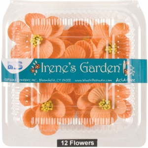 "Blue Hills Studio™ Irene's Garden™ Box O'Magnolias Peach: Red/Pink, Paper, 1 1/4"" - 1 1/2"", Dimensional, (model BHS107532), price per box"