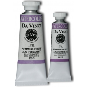 Da Vinci Artists' Watercolor Paint 15ml Lilac: Purple, Tube, 15 ml, Watercolor, (model DAV252-3F), price per tube