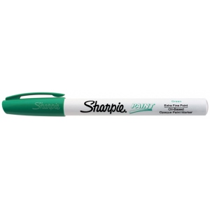 Sharpie® Oil Paint Marker Extra Fine Green: Green, Paint, Fine Nib, (model SN35529), price per each