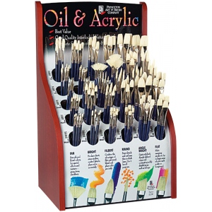 Princeton™ Good Chinese Bristle Oil and Acrylic Brush Display: Good, Long Handle, Multi, Chinese Bristle, Multi, Multi, Acrylic, Multi, Oil, (model 5200D), price per each