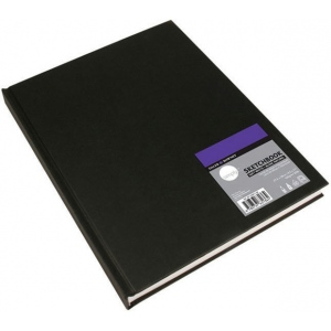 "Cachet® Simply™ Sketchbook 8.5"" x 11"" Soft White Paper Hardbound: White/Ivory, Book, 110 Sheets, 8 1/2"" x 11"", Sketching"