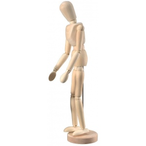 "Heritage Arts™ Unisex Manikin 12"": Wood, 12"", Mannequin, (model CW201), price per each"