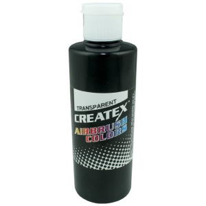 Createx™ Airbrush Paint 4oz Black: Black/Gray, Bottle, 4 oz, Airbrush, (model 5132-04), price per each