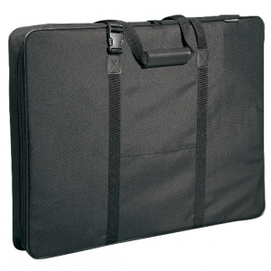 "Prestige™ Carry-All™ Soft-Sided Art Portfolio 20"" x 26"": Black/Gray, 3"", Nylon, 20"" x 26"""