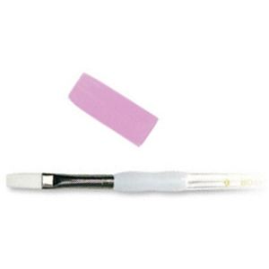 Royal & Langnickel® Soft Grip™ White Taklon Flat Brush 8: White Taklon, Flat, 8, Acrylic, Oil, Watercolor, (model RSG4090-8), price per each
