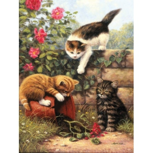 "Royal & Langnickel® Painting by Numbers™ 8 3/4 x 11 3/8 Junior Small Set Kitten at Play: 8 3/4"" x 11 3/8"""