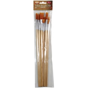Heritage Arts™ 10-Piece Long Handle Oil Brush Value Set: Long Handle, Oil, (model ABP105), price per set