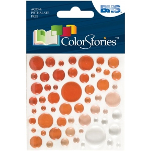 "Blue Hills Studio™ ColorStories™ Epoxy Color Spots Stickers Red: Red/Pink, Epoxy, 3 1/4"" x 3 1/4"", Dimensional, (model BHS10117), price per each"