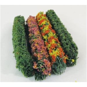 "Wee Scapes™ Architectural Model Flower Hedges: Multi, 150 sq in, Poly Fiber, Turf, 4-Pack, 3/8""d x 5""w x 5/8""h, Flowers, (model WS00305), price per 4-Pack"