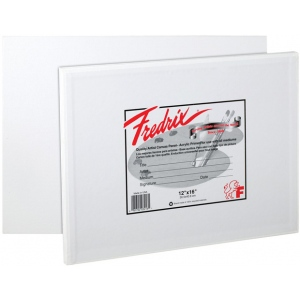 "Fredrix® Artist Series 7 x 9 Canvas Panel: White/Ivory, Panel/Board, 12-Pack, 7"" x 9"", Stretched"