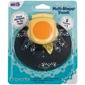 Blue Hills Studio™ Multi-Shaper Magnetic Punch Fireworks: Border, Circle, Corner, Oval, Square, (model BHS614), price per each