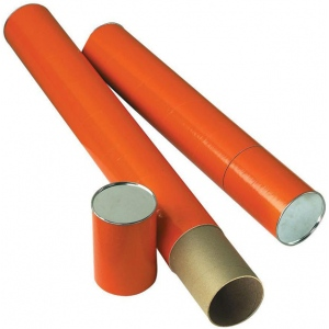 "Alvin® Orange Fiberboard Tube 4"" I.D. x 37-1/4"": Orange, Fiberboard, 4"" x 37 1/4"", (model T418-37), price per each"