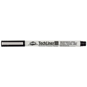 Alvin® TechLiner Technical Drawing Marker .1mm: Black/Gray, .1mm, Fine Nib, Technical, (model TL01), price per each