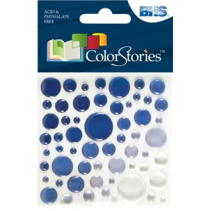 "Blue Hills Studio™ ColorStories™ Epoxy Color Spots Stickers Blue: Blue, Epoxy, 3 1/4"" x 3 1/4"", Dimensional"