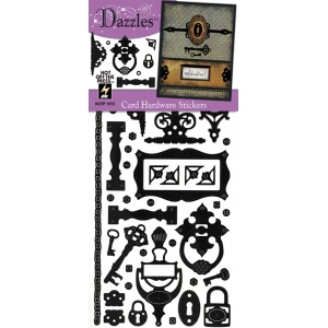 Dazzles Stickers Hardware Black