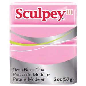 Sculpey® III Polymer Clay Dusty Rose: Red/Pink, Bar, Polymer, 2 oz, (model S302303), price per each