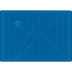 "Alvin® HM Series Blue/Gray Self-Healing Hobby Mat 12 x 18: Black/Gray, Blue, Grid, Vinyl, 12"" x 18"", 2mm, Cutting Mat, (model HM1218), price per each"