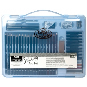 Royal & Langnickel® Essentials™ Clear View Large Art Case Sketching Set: Book, Pencil, Stick, Multi, (model RSET-ART3205), price per set