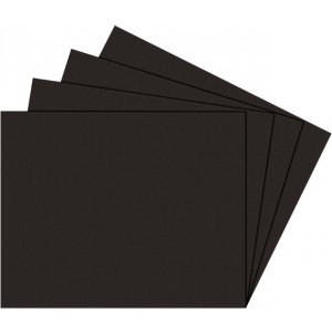 "Alvin® Black on Black Presentation Boards 11"" x 14"": Black/Gray, Matte, Sheet, 25 Sheets, 11"" x 14"", Photography Presentation Board, (model PB1114-25), price per 25 Sheets box"