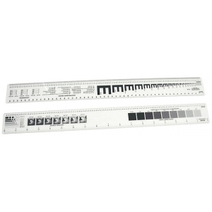 "Westcott® C-Thru® 18"" Graphic Arts Ruler: White/Ivory, Plastic, 18"", Ruler, (model GA86), price per each"