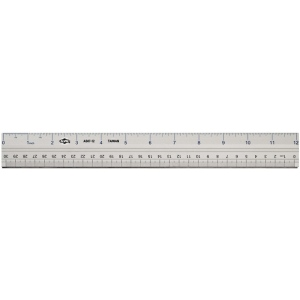 "Alvin® 18"" Aluminum Ruler: Metallic, Aluminum, 18"", Ruler, (model AS07-18), price per each"