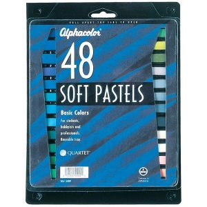 Alphacolor® Soft Pastels Basic 48-Color Set: Multi, Stick, Soft, (model QT148007), price per set