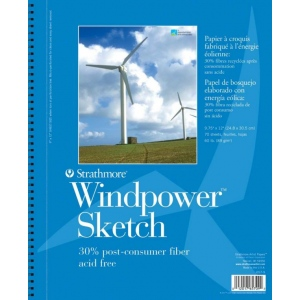 Strathmore® Windpower™ Wire Bound Sketch Pad
