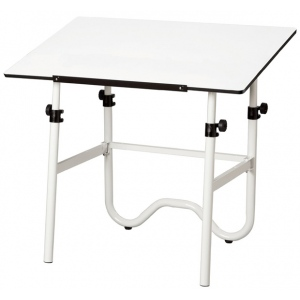 Alvin® Onyx White Base with White Top Height/Angle Adjustment