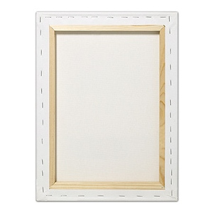 "Fredrix® Artist Series Blue Label 24"" x 30"" Blue Label Ultra Smooth Stretched Canvas: White/Ivory, Sheet, 24"" x 30"", 11/16"" x 1 9/16"", Stretched, (model T5611), price per each"