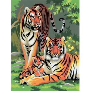 "Royal & Langnickel® Painting by Numbers™ 8 3/4 x 11 3/8 Junior Small Set Tigers: 8 3/4"" x 11 3/8"""