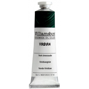 Williamsburg® Handmade Oil Paint 37ml Viridian: Green, Tube, 37 ml, Oil, (model 6001245-9), price per tube