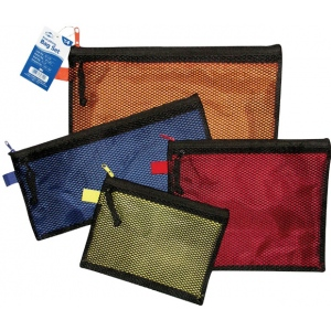 "Alvin® 4-Piece Everything Bag Set: Multi, Mesh, 10"" x 13"", 4 3/4"" x 12 1/2"", 6"" x 8"", 8 1/4"" x 10"", (model EB4), price per set"