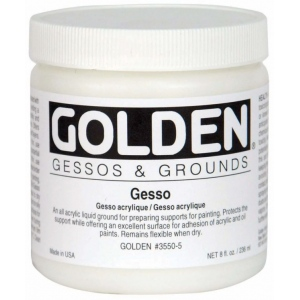 Golden® Gesso 16 oz.: White/Ivory, 16 oz, 473 ml, Gesso, (model 0003550-6), price per each