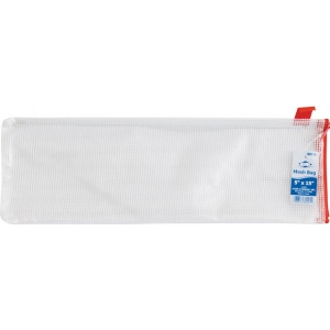 "Alvin® NB Original Series Mesh Bag 5"" x 15"": Assorted, Clear, Mesh, Vinyl, 5"" x 15"", (model NB515), price per each"